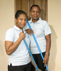 housekeeping staff   resort Corn Island Nicaragua