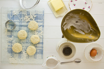 English Scones cut out