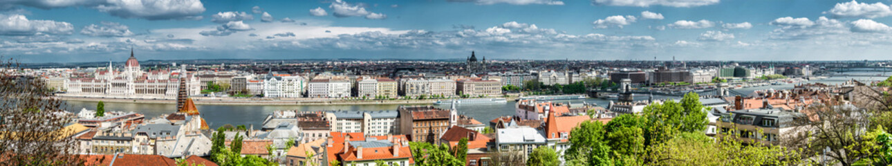Panoramic view of Budapest city. Hungary