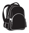 Backpack on white background - 64990437