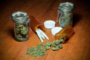 Marijuana On Table