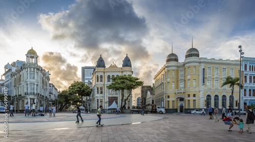 Aluminium Zuid-Amerika land Recife Antigo at Marco Zero Square in Recife, Pernambuco, Brazil