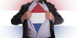 Business man with Dutch flag t-shirt