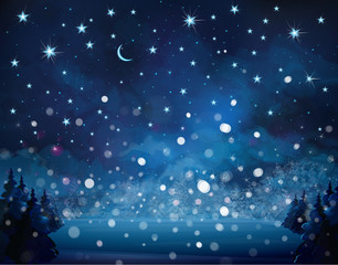 Vector snowfall background.
