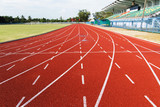 Fototapety Running track  in the morning.