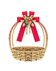 Basket and ribbon