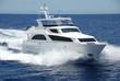 Leinwanddruck Bild - Luxury Yacht at Sea