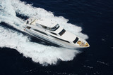 Aerial View of Luxury Yacht at Sea - 64993069