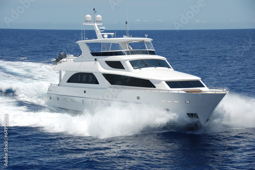 Foto Spatwand Jacht Luxury Yacht at Sea