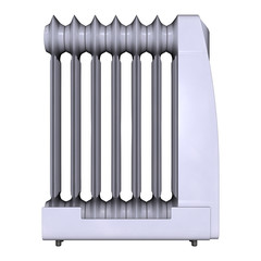 Oil Heater on White