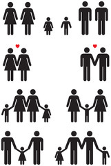 Same Sex Family Icons (gay marriage)