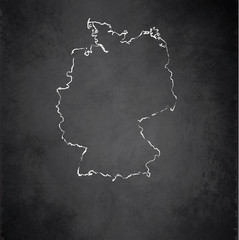 Germany map blackboard chalkboard vector