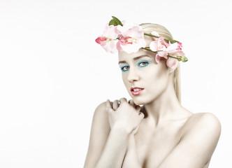 Makeup Frau kreativ