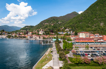 Laveno, Italy. Panoramic view