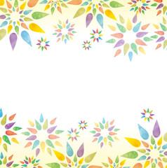 水彩画・花柄