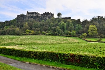 View of the hill top castle of Stirling, Scotland