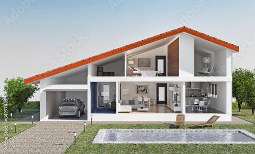 Villa con piscina - 64997489