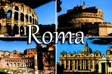 Rome Comic Collage