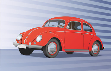 Käfer - rot, dynamisch
