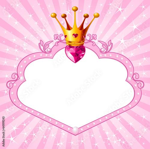 Princess pink frame Plakát