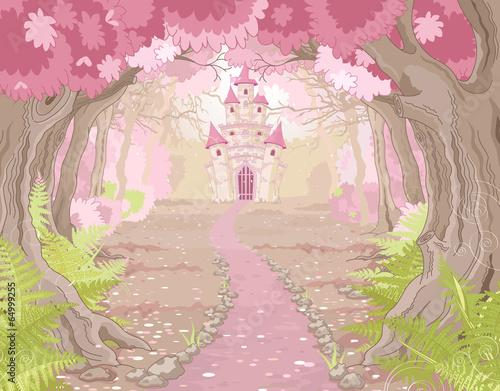 Magic Castle Landscape Plakát