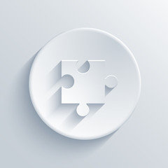 Vector modern puzzle icons background.
