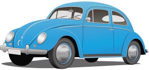 Käfer - dynamisch, blau