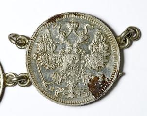 Russische 15 Kopeken Silbermünze