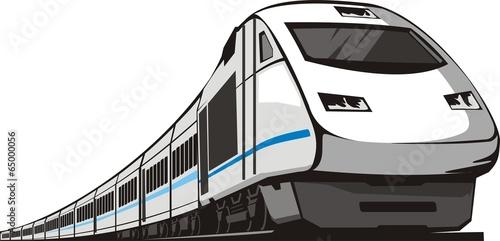 Naklejka passenger speed train