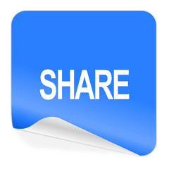 share blue sticker icon