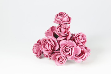 Arrangement of Pale Pink Artificial Paper Roses
