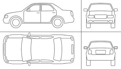 passenger car keyline all sides