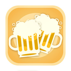 Beer icon with two mugs