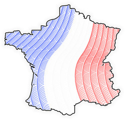 Map France - Francia - Guilloche