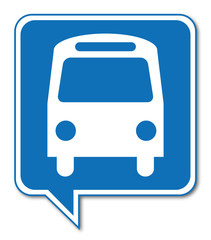 Logo bus, car, autocar.