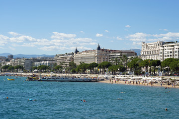 The bay of cannes