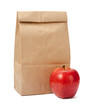 Brown Bag Lunch with clipping path