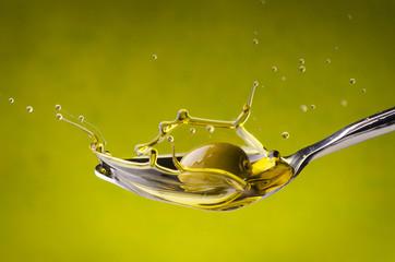 olio di oliva splash