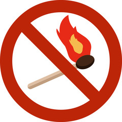 Vector Sign No Fire