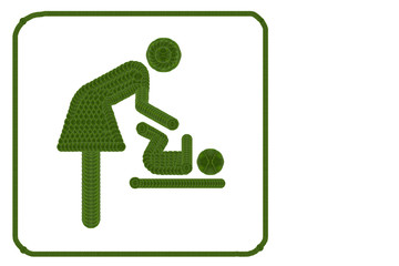 symbol for women and baby , baby changing
