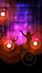 Music poster. Dancing people