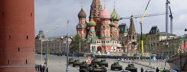 Russian weapons. Rehearsal of military parade, Moscow, Russia