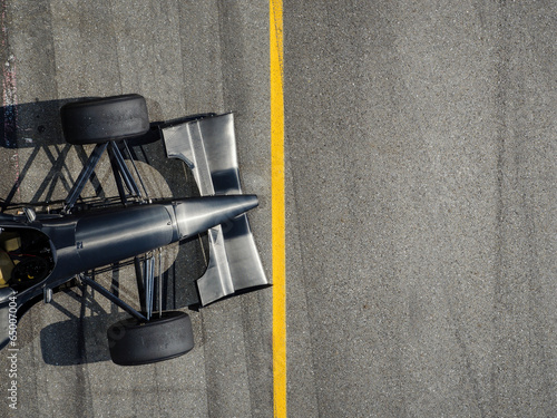 Fotobehang Formule 1 Racing Car with standing at line background