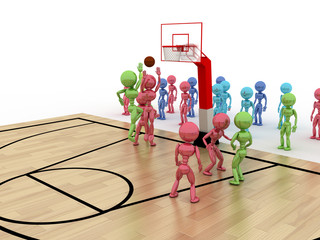 Game time. Privacy-attack in basketball.  №3
