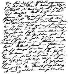 Handschrift schreiben antik Goethe Schrift alt alte