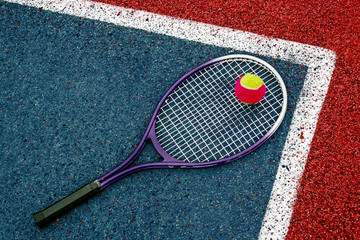Tennis Ball & Racket-1