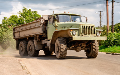 Heavy duty old military truck