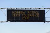 Zero Tolerance Freeway Sign poster