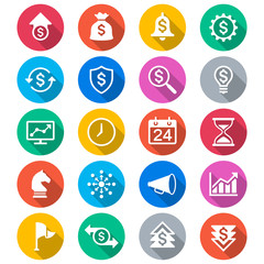 Business flat color icons