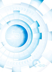 Abstract technology blue white background.